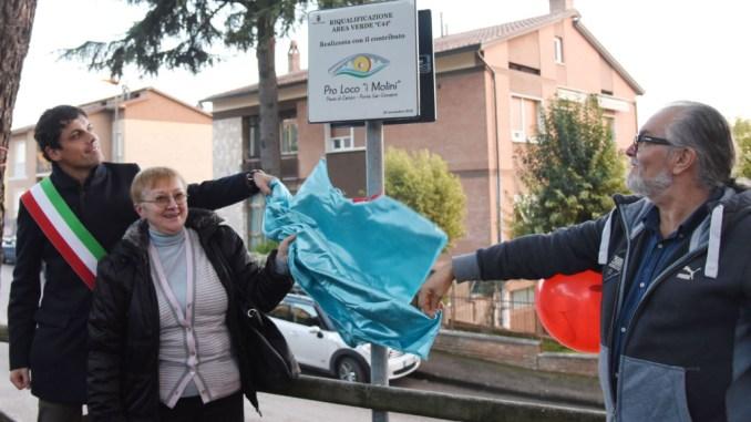 Inaugurata a Pieve di Campo l'area giochi, era presente il sindaco Romizi
