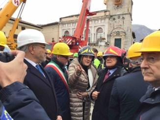 Terremoto Norcia, presidente Pietro Grasso visita la città