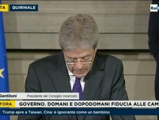 Governo, i nomi dei ministri, Gentiloni: «Proseguiremo l'azione di Renzi»