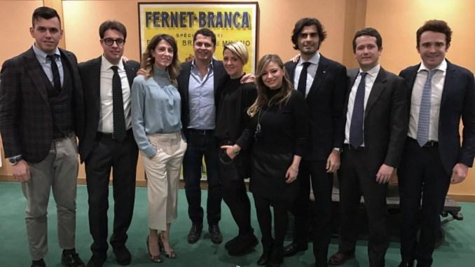 Il gruppo Giovani imprenditori di Federalimentare. Primo da sinistra Daniele Grigi