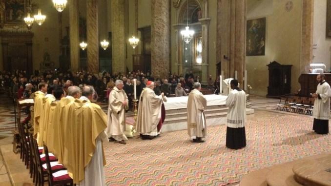 La celebrazione eucaristica del Te Deum di ringraziamento in cattedrale