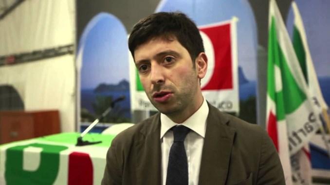 Ministro della sanità Roberto Speranza a Perugia per Bianconi