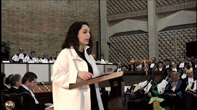 Università di Perugia, Martina Domina parla a nome degli studenti