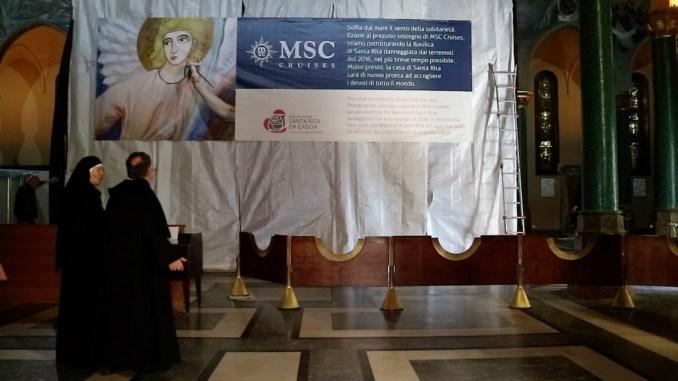 MSC Crociere ristrutturerà la Basilica di Santa Rita da CasciaMSC Crociere ristrutturerà la Basilica di Santa Rita da Cascia