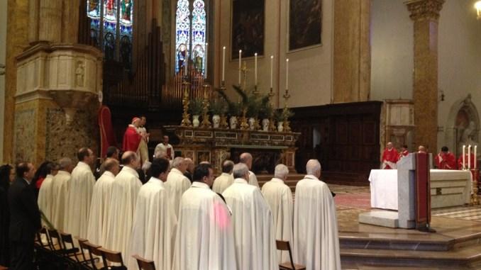 Domenica delle Palme nella cattedrale di San Lorenzo con il cardinale Gualtiero Bassetti