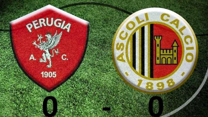 Perugia Ascoli è terminata con il punteggio di 0-0