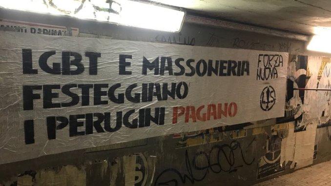 Forza Nuova Perugia, Massoneria e LGBT stesso nemico da combattere