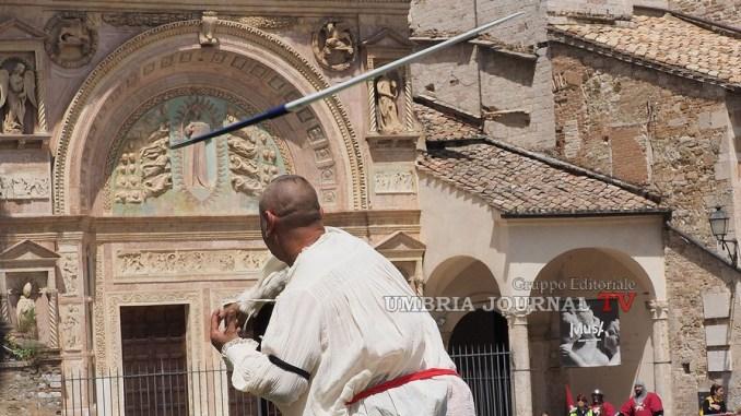 Perugia 1416, Porta Sant'Angelo si aggiudica la prima gara, il tiro del giavellotto