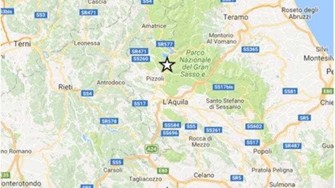 Terremoto, scossa di magnitudo 3,9 registrata a Pizzoli in provincia de L'Aquila