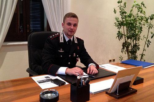 Capitano Pierluigi Satriano arriva alla Compagnia dei carabinieri di Perugia