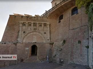 Perugia Folgora alla Rocca Paolina inaugurazione video installazione artistica
