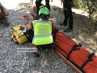 Escursionista recuperato dal soccorso alpino e speleologico Umbria e 118