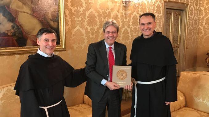 Presidente del Consiglio,Paolo Gentiloni, ad Assisi per San Francesco