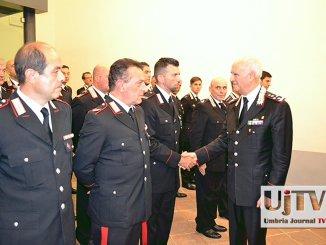 Tullio Del Sette a Perugia, il Generale fa visita alla Legione