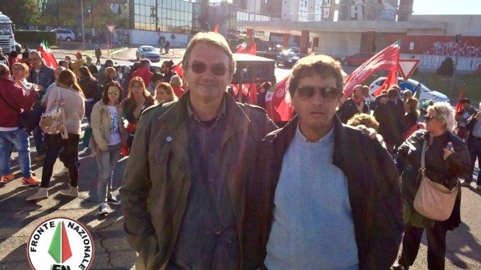Sciopero Perugina, Fronte Nazionale presente davanti ai cancelli