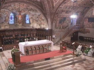 Assisi, il ventesimo anniversario del terremoto del 1997, la celebrazione