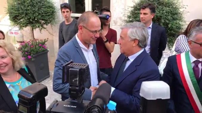 Un Europa migliore, commissario Navracsics e Presidente Tajani a Norcia