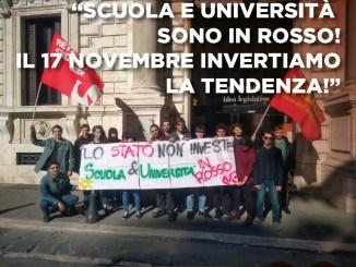 Scuola e Università in rosso, studenti torneranno in piazza il 17 novembre in tutta Italia
