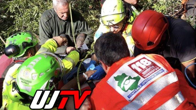 Cacciatore cade nel dirupo a Miranda di Terni, ricoverato in rianimazione