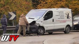 Incidente stradale a Collestrada, scontro tra due mezzi, c'è un ferito