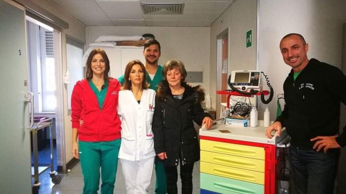 Due carrelli per le emergenze alla TIPOC dell'Ospedale di Terni