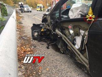 Incidente stradale sulla Flaminia a Vescia di Foligno, tre feriti