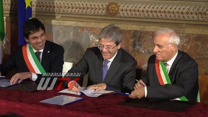Presidente del Consiglio Gentiloni a Perugia ha firmato il protocollo riqualificazione periferie [FOTO E VIDEO]