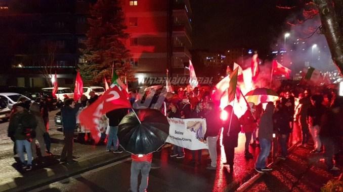 Una marcia blindata, quella di oggi indetta da Perugia antifascista