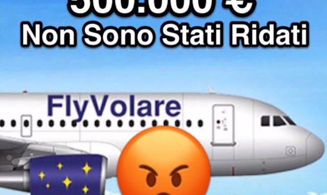 Blu Jet/Fly Volare non ha restituito i 500 mila euro a SASE