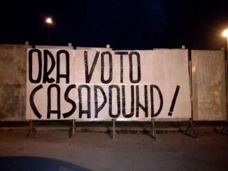 Politiche 2018, striscioni in tutta Umbria a sostegno di CasaPound