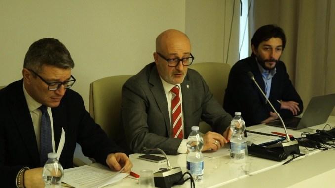 da sx, Roberto Rava, Virgilio Puletti, Luca Pieri