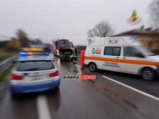 Schianto sulla E45, incidente stradale a Montebello di Perugia, due feriti