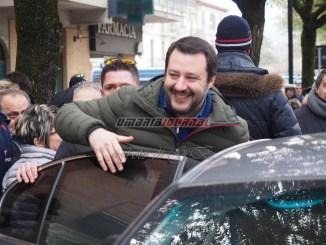 Matteo Salvini a Terni, lunedì 26 febbraio all'Hotel Valentino