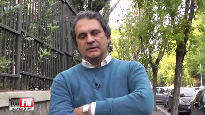 Roberto Fiore a Viale Roma inaugura Casa Forza Nuova