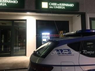 Furto nella notte, banche di nuovo sotto attacco a Perugia nord FOTO E VIDEO