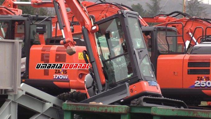 Rubati quattro grossi escavatori Hitachi alla Scai di Ospedalicchio di Bastia