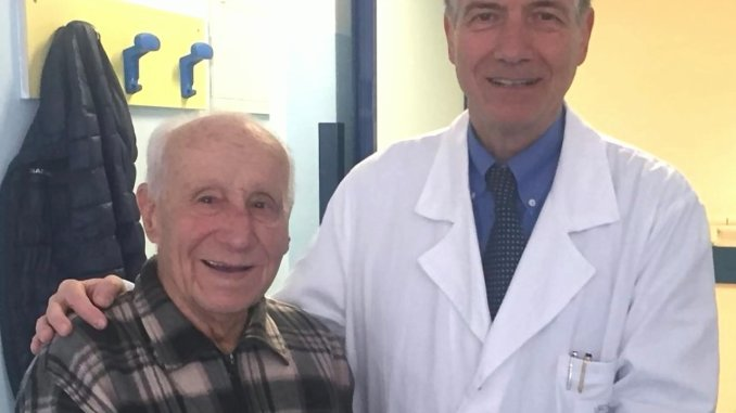 Quasi cento anni, vita allungata da valvola cardiaca TAVI impiantato da Cavallini