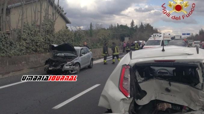 Carambola di auto, coinvolto anche Luciano De Cecco nell'incidente a Spello