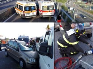 Incidente a Ellera, scontro tra autocarro e una autovettura, un ferito