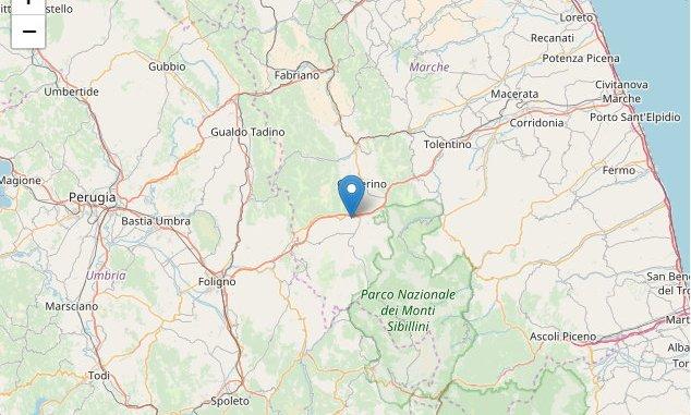 Scossa! Terremoto magnitudo 4.7 a Muccia, avvertito in quasi tutta l'Umbria