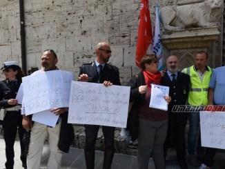 Comune non investe più nella sicurezza, Polizia Locale Perugia in sciopero FOTO