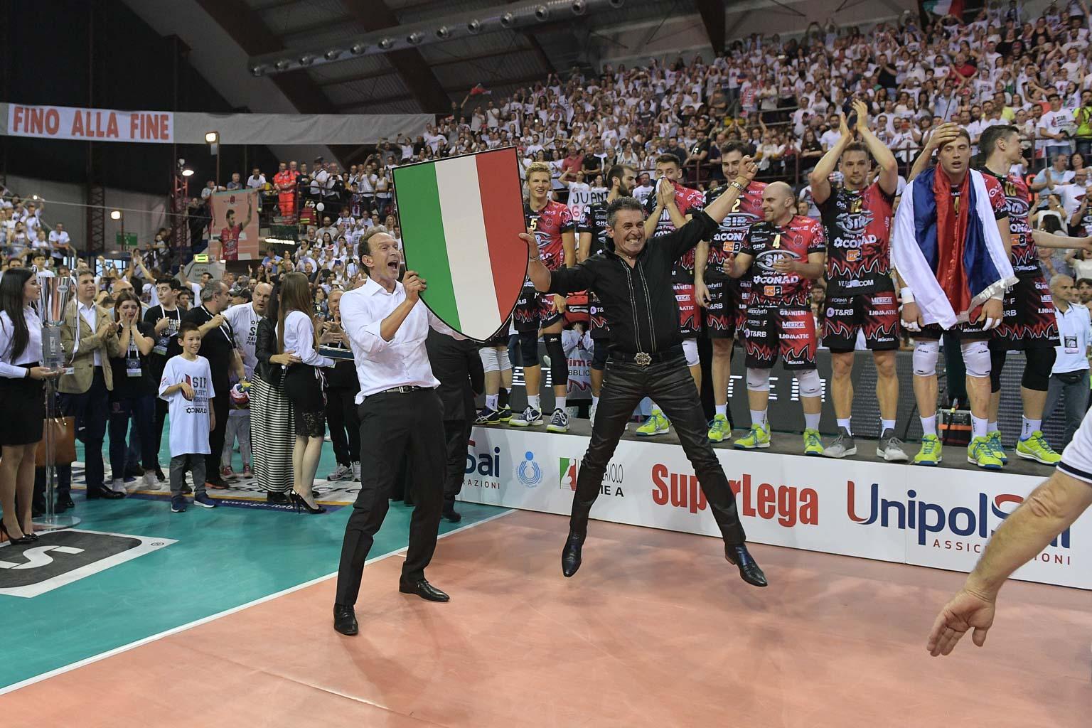 Sir Conad è campione d'Italia, primo scudetto non si scorda mai