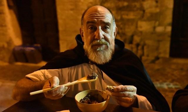 Corsa all'Anello ritorno di Giorgione, notte tabernae con grande cuoco