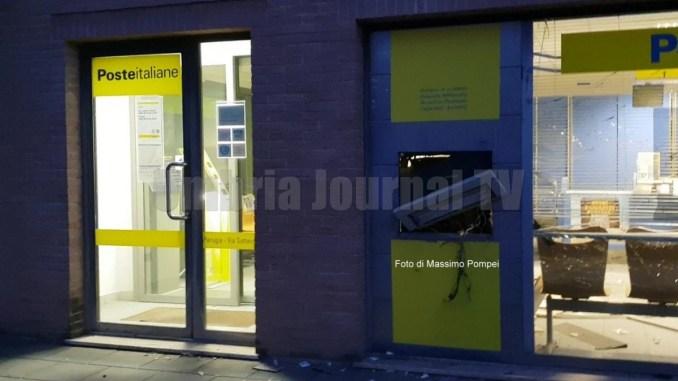 Esplosione Postamat di via Settavalli a Perugia, colpo fallito solo danni