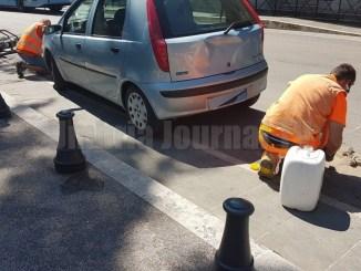 Nuova ztl Perugia, lavori per monitorare tempo di sosta auto