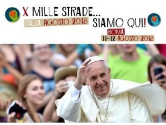 Pellegrinaggio a piedi dei giovani per incontrare papa Francesco