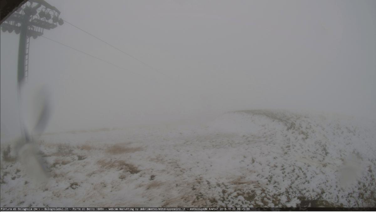 Prima neve sui monti del Parco dei Sibillini, previsioni fino al 28 ottobre
