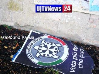 Strappati a Bastia Umbra i manifesti di CasaPound nel giorno della Marcia