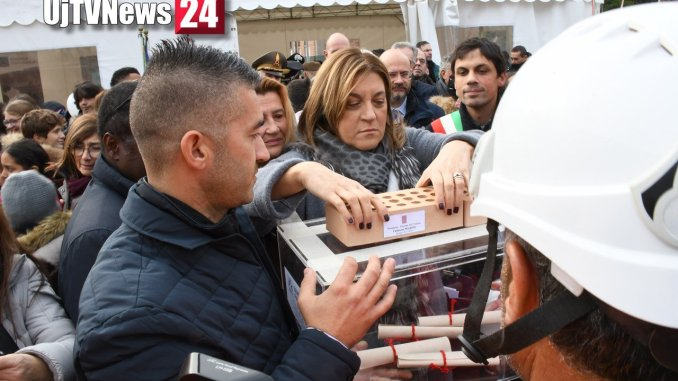 Scuola Carducci Purgotti Perugia posata prima pietra rinasce dopo il terremoto [Foto]