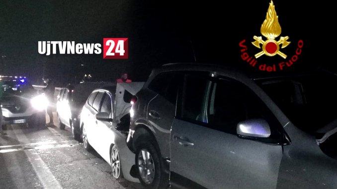 Incidente stradale a Gubbio tamponamento a catena, con ferito, sulla Variante